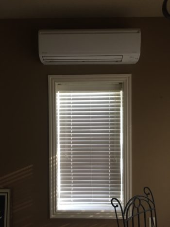 Daikin Ductless System Interior Wall Mount Head installed by Morris Heat and Air