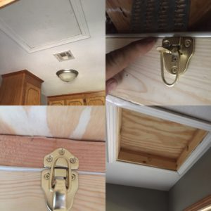 Before, During, and After Photos Of An Attic Hatch Installed By Morris Heat and Air